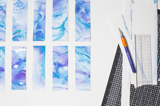 Cutting Watercolour panels...