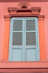 colourful windows in Clark Quay, Singapore
