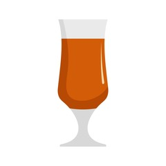Alcohol icon. Flat illustration of alcohol vector icon isolated on white background
