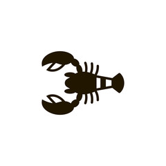 crab icon. sign design