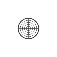 shooting-mark icon. sign design