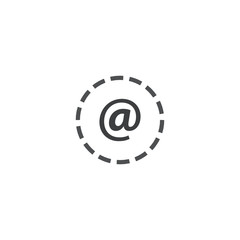 email icon. sign design
