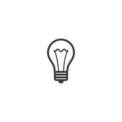 bulb icon. sign design
