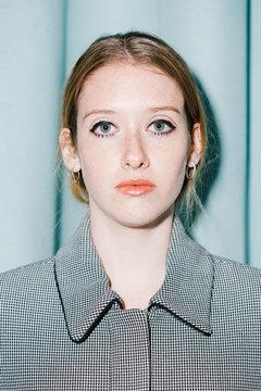 Portrait of serious woman