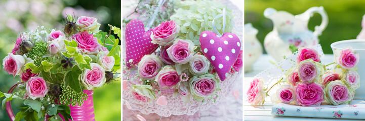 Gartenblumen Collage