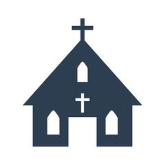 church icon on white background.