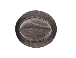 vintage classic male hat on a white background