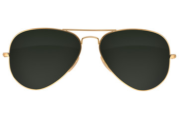 Aviator sunglasses isolated