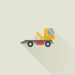 wrecker vector icon flat style