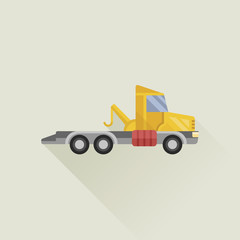 wrecker vector icon flat style