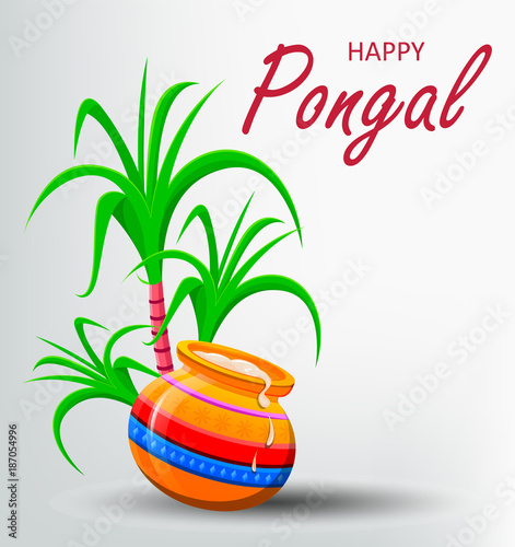 Happy pongal greeting card on white background stock image and happy pongal greeting card on white background m4hsunfo