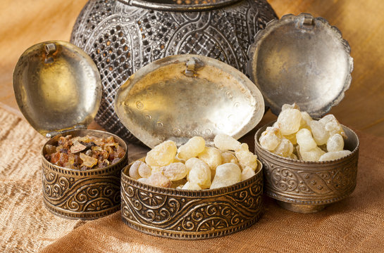 Frankincense is an aromatic resin, used for religious rites, incense and perfumes. High quality frankincense resin from Dhofar, Oman and Myrrh from Ethiopia