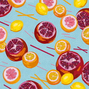 Illustration of citrus fruit