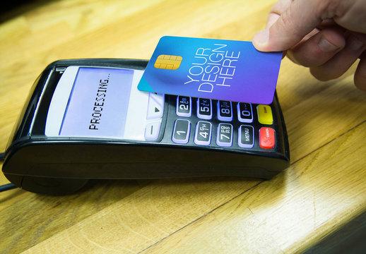 Credit Card and POS Terminal Mockup