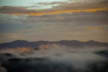 Mountains rural view of El Progreso, Guatemala.