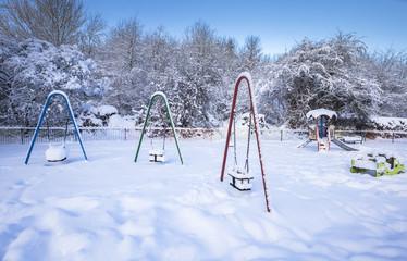 Kids Outdoor Playground in Winter