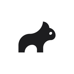 Bulldog Flat Mark Symbol Animal Minimal Cute