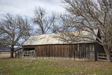 Old simple farm barn