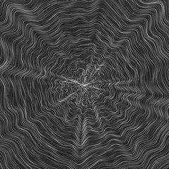 Wavy Line Concentrical Abstract Vector Background - Generative Art