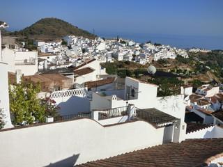 Frigiliana, pueblo bonito de Malaga, en la comunidad autonoma de Andalucia (España) situado en la comarca de la Axarquía e integrado en Torrox