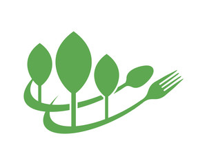 spoon fork plant agricultural agriculture harvest farming image vector