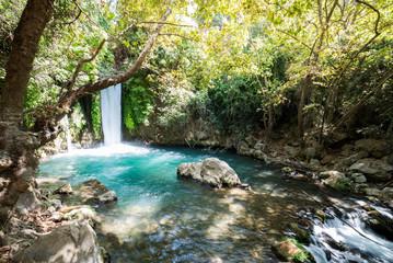 Printed kitchen splashbacks River Visiting Banias Nature Reserve in Northern Israel