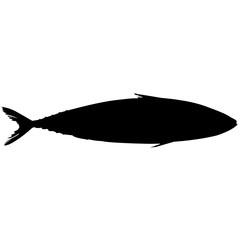 Mackerel Silhouette Vector Graphics