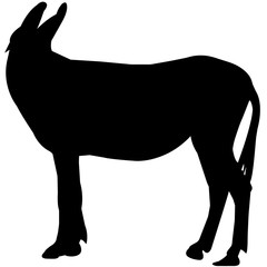 Mule Silhouette Vector Graphics