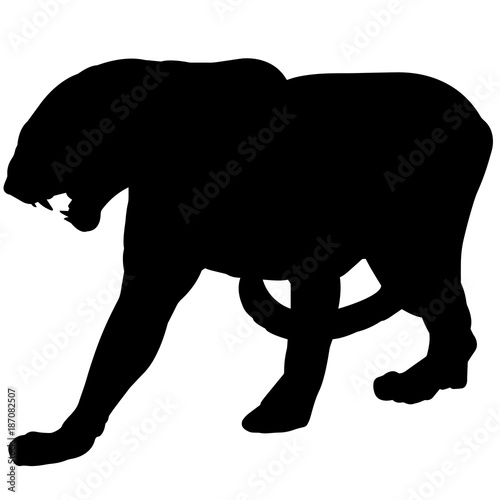 panther silhouette vector graphics stock image and royalty free