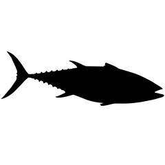 Tuna Silhouette Vector Graphics
