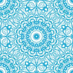 decorative seamless floral pattern. vector illustration. blue color. design element for wallpaper, background, invitation, fabric print