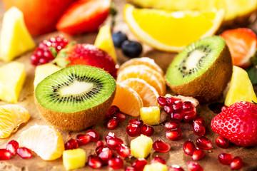 Fresh fruits mixed