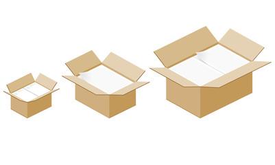 書類の入ったダンボール箱