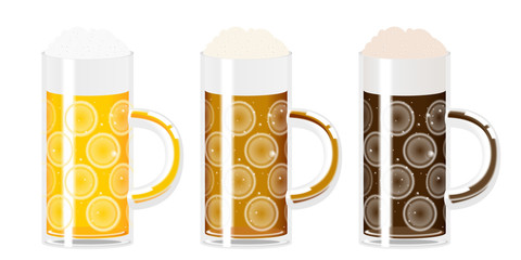 Beer - three mugs