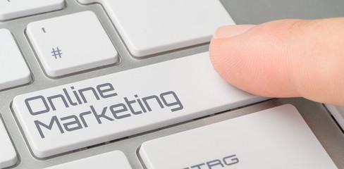 Tastatur mit beschrifteter Taste - Online Marketing