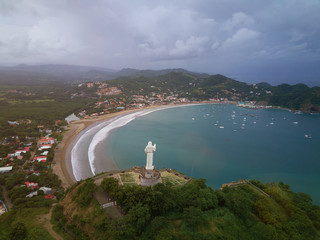 Aerial view on Sun Juan Del sur city