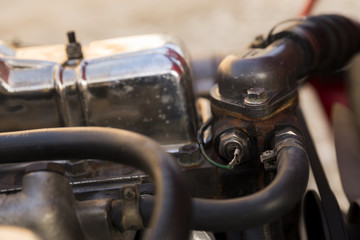 old style car engine