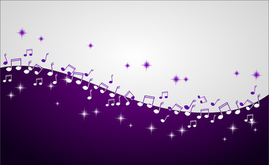 Music background decorated with notes