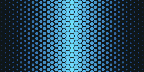 Abstract geometric pattern. Hipster fashion design print hexagonal pattern. Blue honeycombs on a black background. Vector.