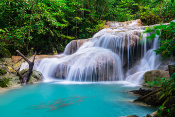 Waterfall at Erawan National Park, Thailand