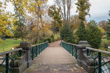 le petit pont du jardin Lecoq