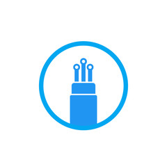 optic fiber cable icon on white