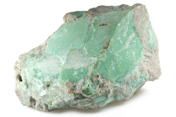 turquoise from Caceres/ Spain isolated on white background