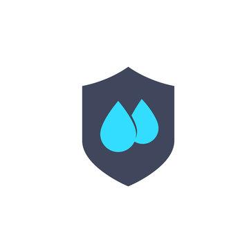 waterproof, water resistant icon