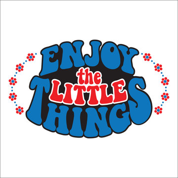Enjoy the little things. Classic psychedelic 60s and 70s lettering.