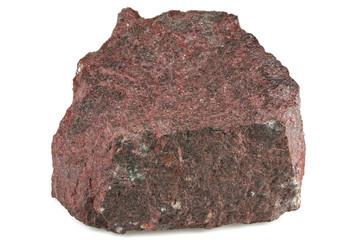 cinnabar merury ore isolated on white background