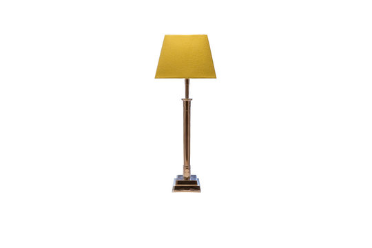 old table lamp with metal stand isolated