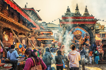 Printed roller blinds Nepal Kala Bhairava Temple, Kathmandu, Nepal