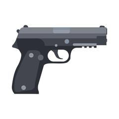 Gun hand vector pistol illustration