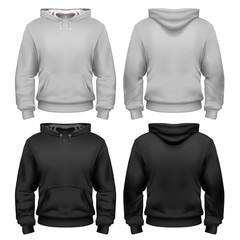 Black and white sweatshirt template